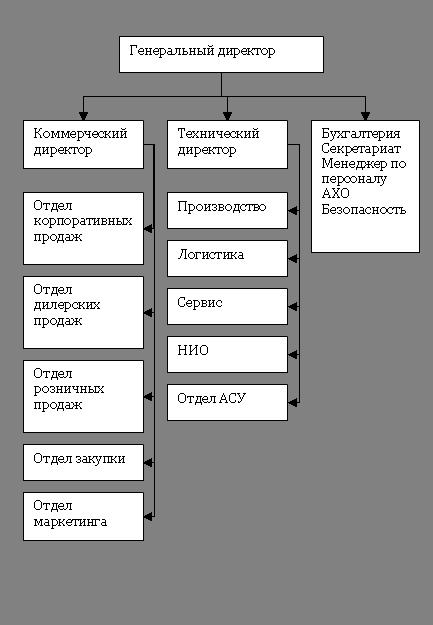 Рис 1. Линейно-функциональная структура управления.